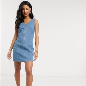 ASOS denim zip dress NWOT